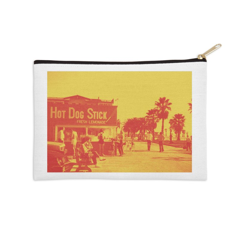 Muscle Beach Vintage Accessories Zip Pouch by Hot Dog On A Stick's Artist Shop