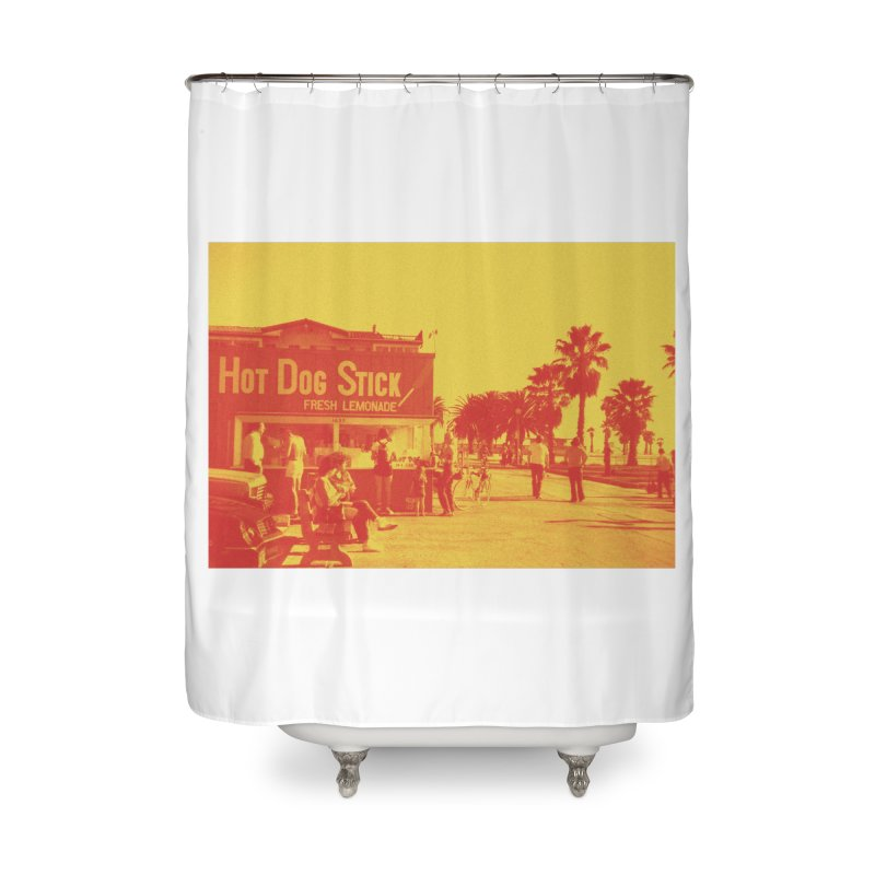Muscle Beach Vintage Home Shower Curtain by Hot Dog On A Stick's Artist Shop