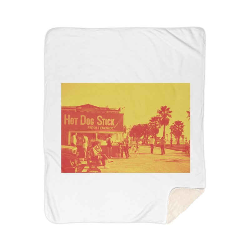 Muscle Beach Vintage Home Sherpa Blanket Blanket by Hot Dog On A Stick's Artist Shop