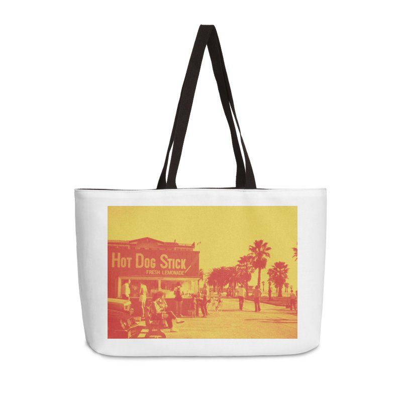 Muscle Beach Vintage Accessories Weekender Bag Bag by Hot Dog On A Stick's Artist Shop