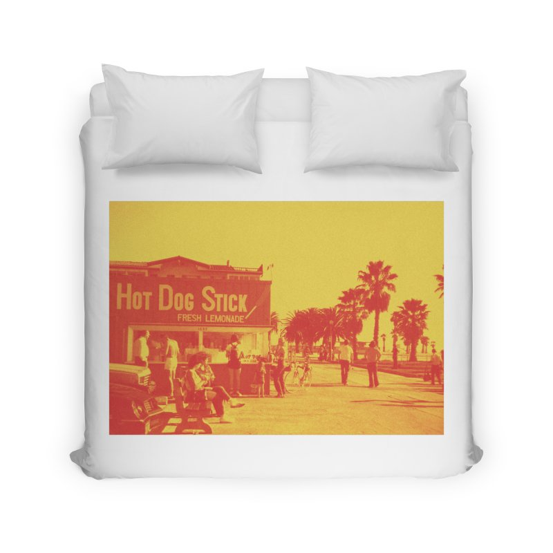 Muscle Beach Vintage Home Duvet by Hot Dog On A Stick's Artist Shop