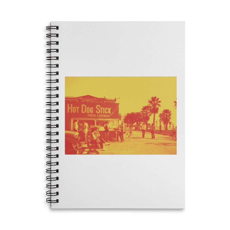 Muscle Beach Vintage Accessories Lined Spiral Notebook by Hot Dog On A Stick's Artist Shop