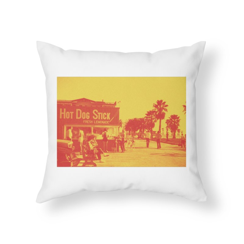 Muscle Beach Vintage Home Throw Pillow by Hot Dog On A Stick's Artist Shop