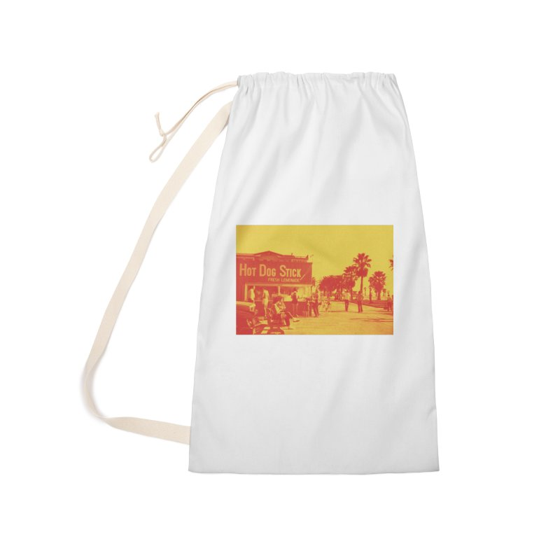Muscle Beach Vintage Accessories Laundry Bag Bag by Hot Dog On A Stick's Artist Shop