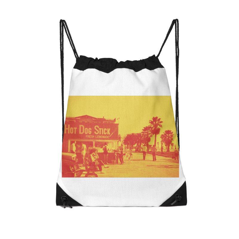 Muscle Beach Vintage Accessories Bag by Hot Dog On A Stick's Artist Shop