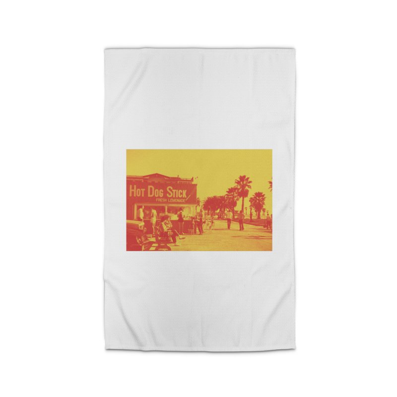 Muscle Beach Vintage Home Rug by Hot Dog On A Stick's Artist Shop