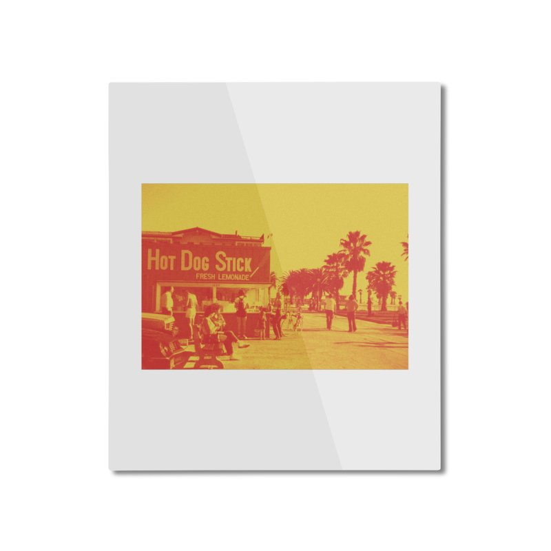 Muscle Beach Vintage in Mounted Aluminum Print by Hot Dog On A Stick's Artist Shop