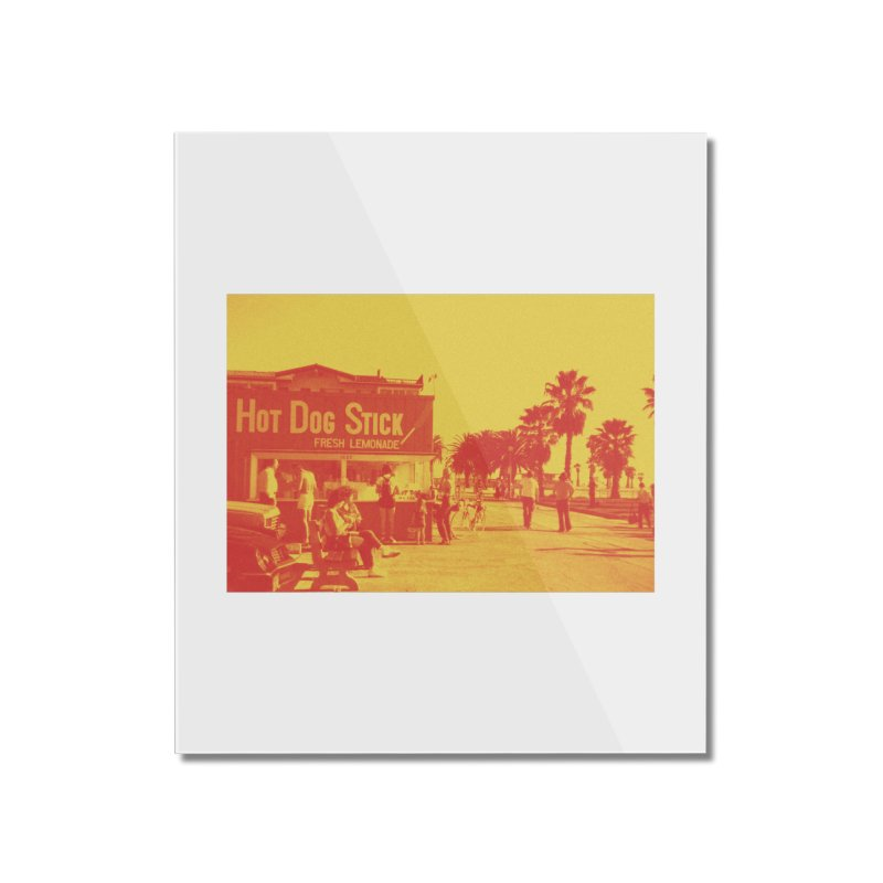 Muscle Beach Vintage Home Mounted Acrylic Print by Hot Dog On A Stick's Artist Shop