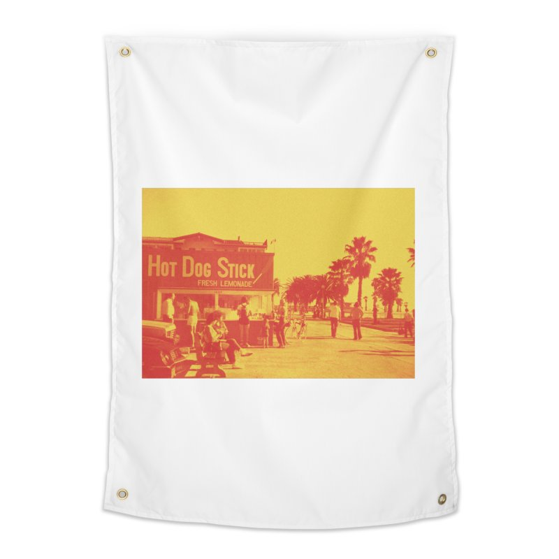 Muscle Beach Vintage Home Tapestry by Hot Dog On A Stick's Artist Shop