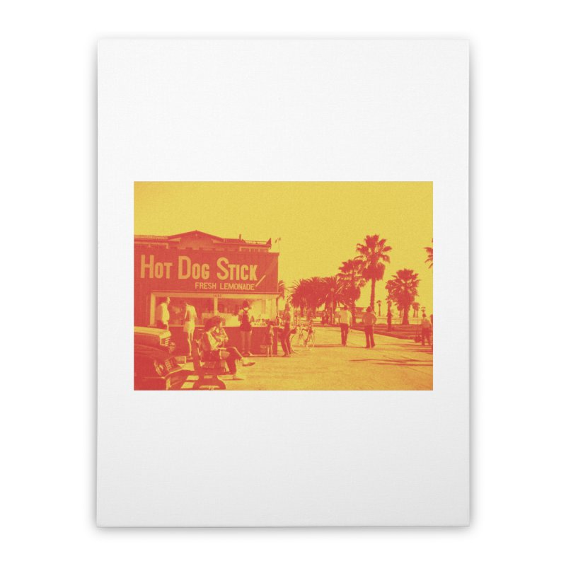 Muscle Beach Vintage Home Stretched Canvas by Hot Dog On A Stick's Artist Shop