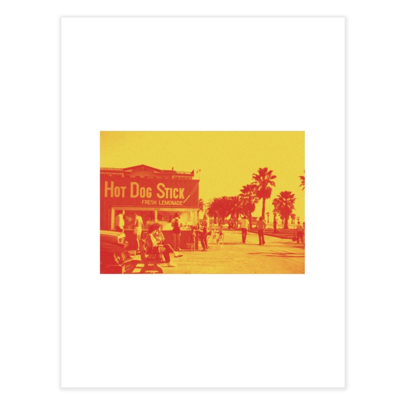 Muscle Beach Vintage Home Fine Art Print by Hot Dog On A Stick's Artist Shop