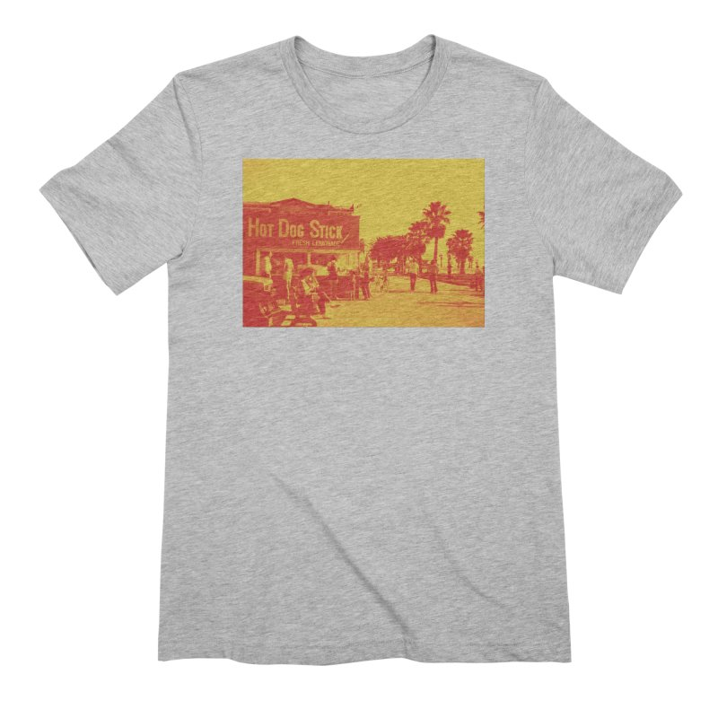 Muscle Beach Vintage Men's Extra Soft T-Shirt by Hot Dog On A Stick's Artist Shop