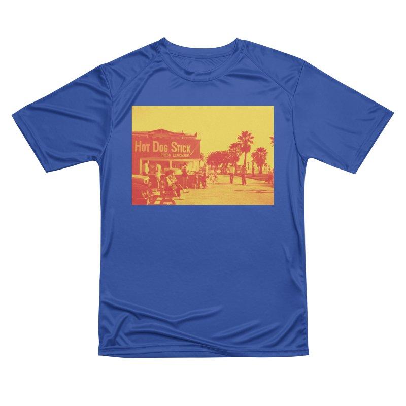 Muscle Beach Vintage Women's Performance Unisex T-Shirt by Hot Dog On A Stick's Artist Shop