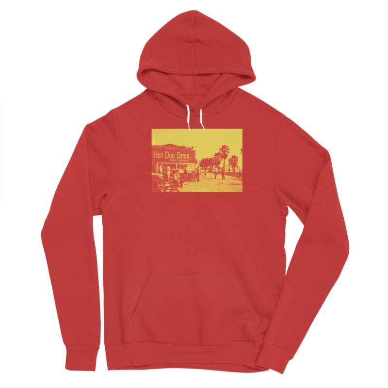 Muscle Beach Vintage Men's Pullover Hoody by Hot Dog On A Stick's Artist Shop