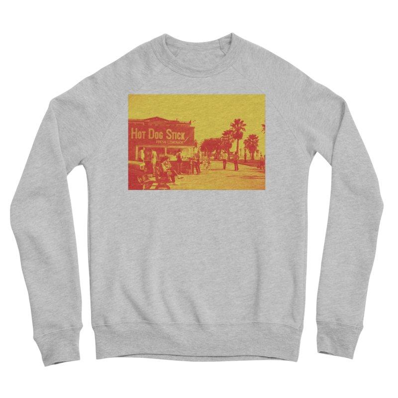 Muscle Beach Vintage Men's Sponge Fleece Sweatshirt by Hot Dog On A Stick's Artist Shop