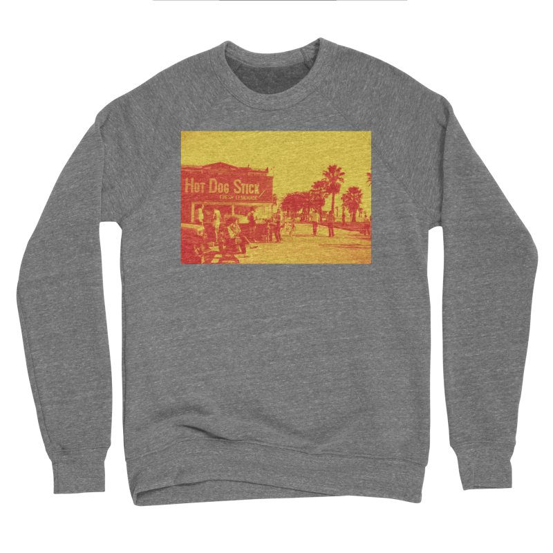 Muscle Beach Vintage Men's Sponge Fleece Sweatshirt by Hot Dog On A Stick's Artist Shop