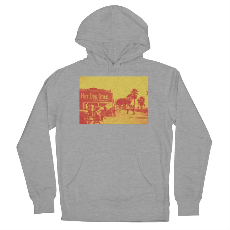Muscle Beach Vintage Women's French Terry Pullover Hoody by Hot Dog On A Stick's Artist Shop