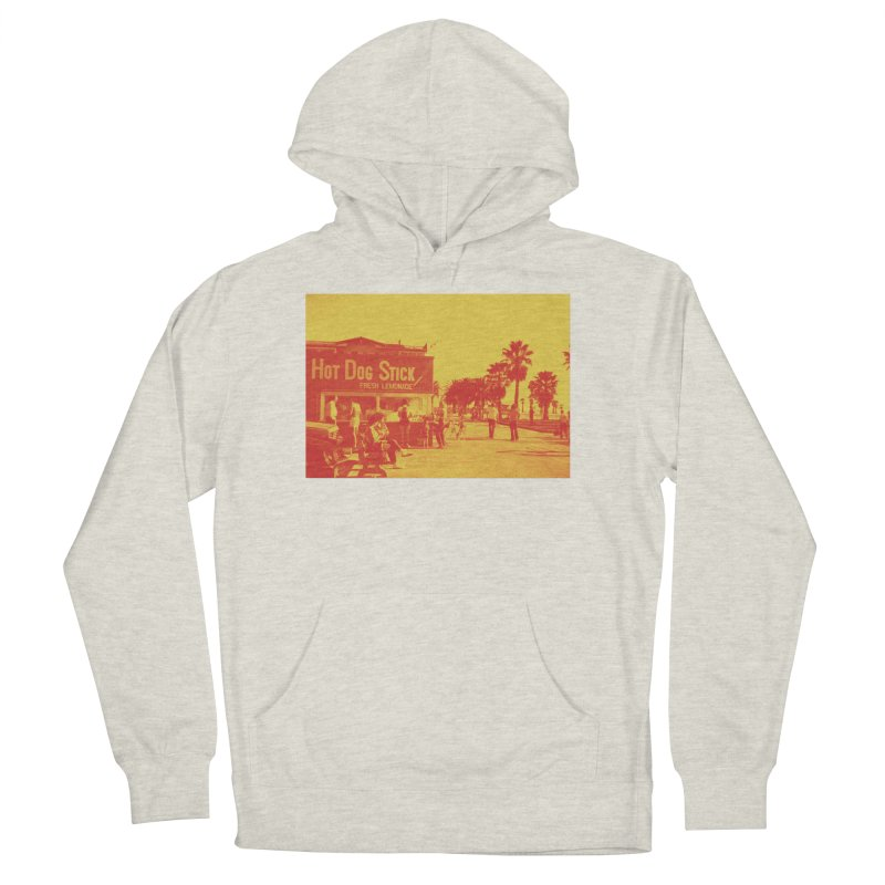 Muscle Beach Vintage Men's French Terry Pullover Hoody by Hot Dog On A Stick's Artist Shop