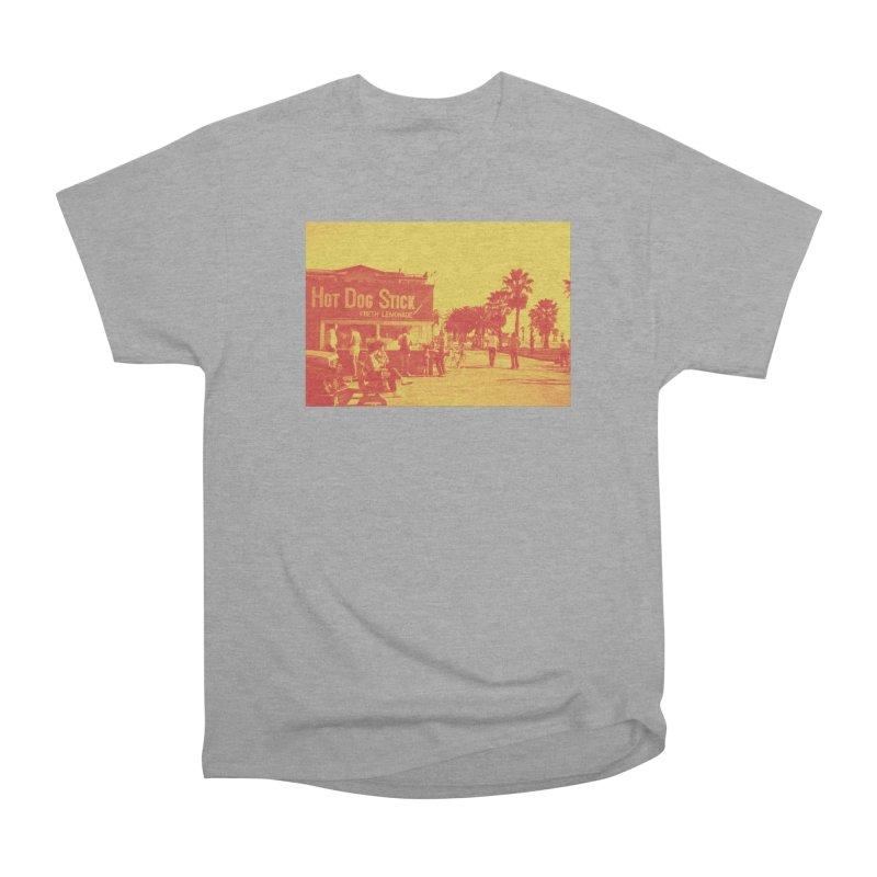 Muscle Beach Vintage Men's Heavyweight T-Shirt by Hot Dog On A Stick's Artist Shop