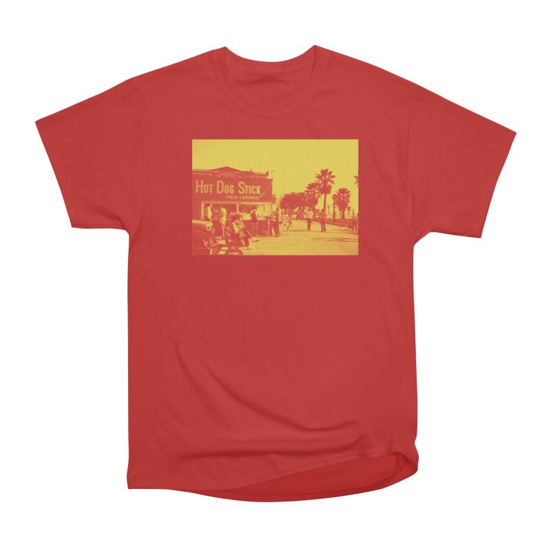Muscle Beach Vintage Women's Heavyweight Unisex T-Shirt by Hot Dog On A Stick's Artist Shop