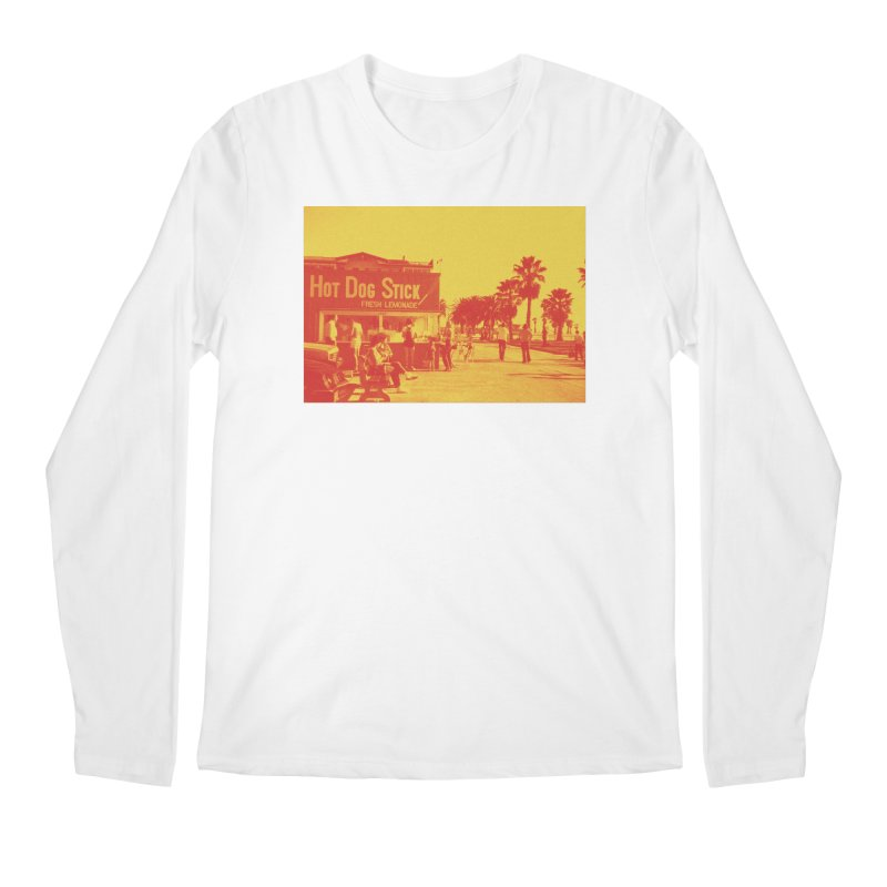 Muscle Beach Vintage Men's Regular Longsleeve T-Shirt by Hot Dog On A Stick's Artist Shop