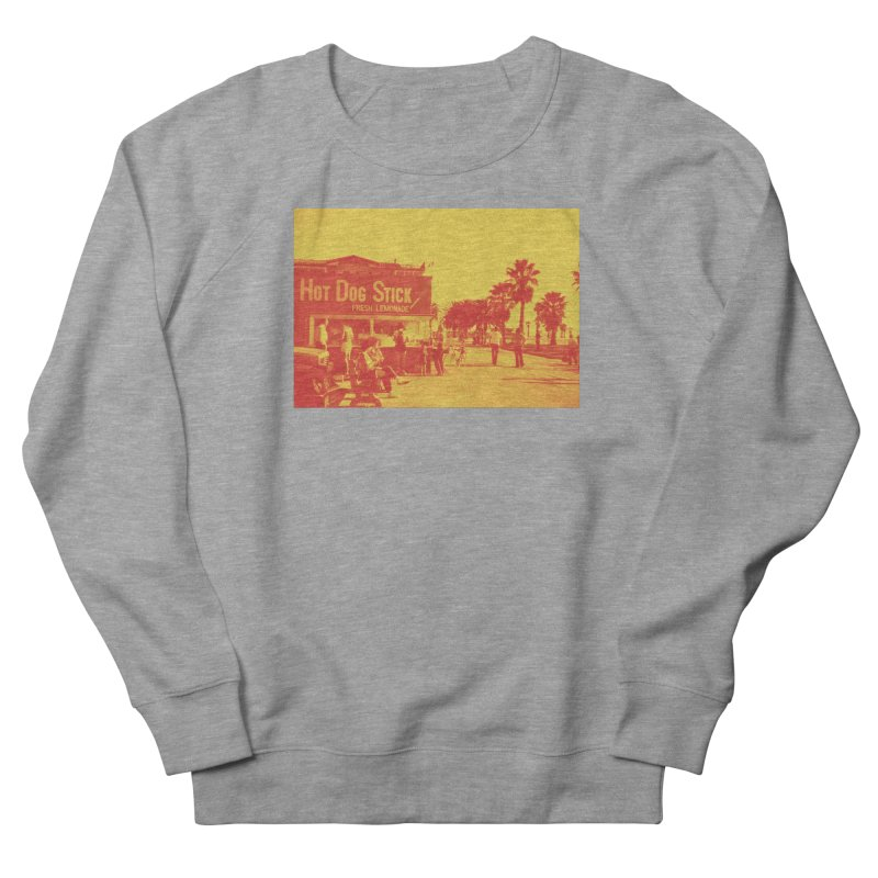 Muscle Beach Vintage Men's French Terry Sweatshirt by Hot Dog On A Stick's Artist Shop