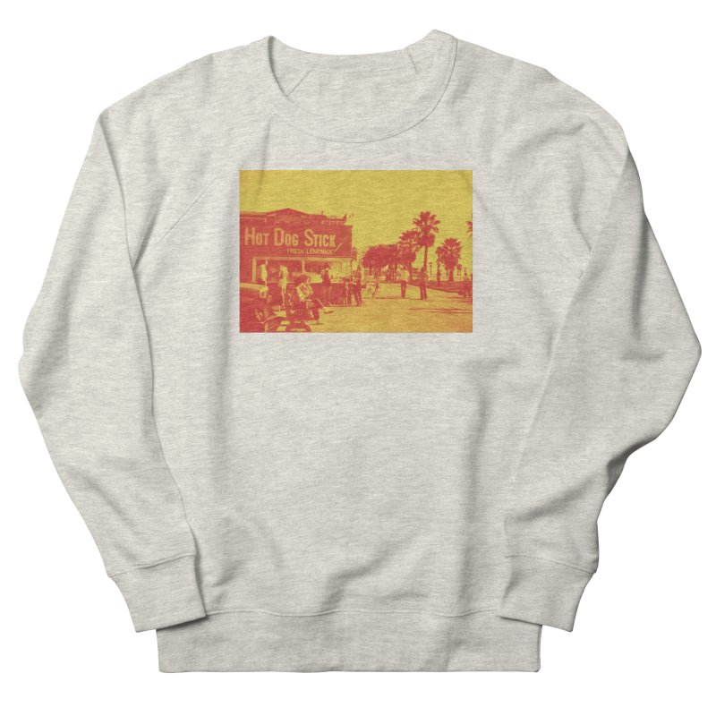 Muscle Beach Vintage Men's Sweatshirt by Hot Dog On A Stick's Artist Shop