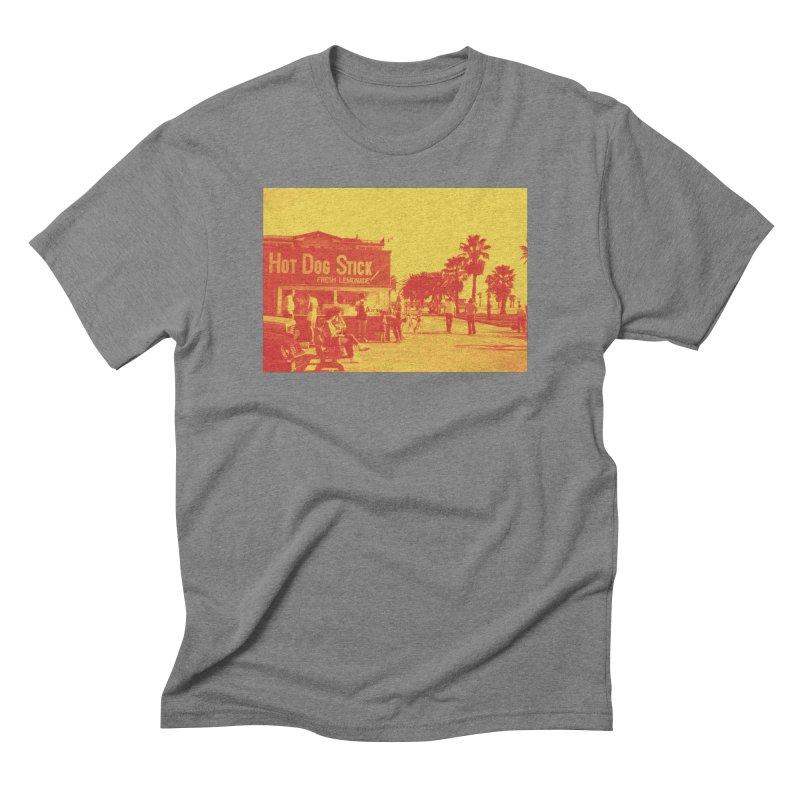 Muscle Beach Vintage Men's Triblend T-Shirt by Hot Dog On A Stick's Artist Shop