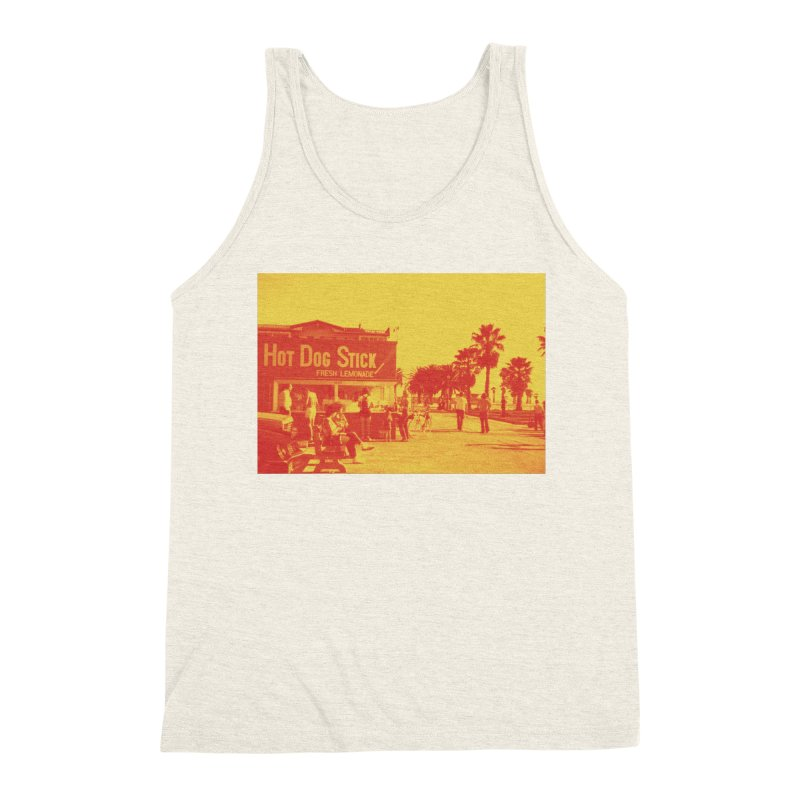 Muscle Beach Vintage Men's Triblend Tank by Hot Dog On A Stick's Artist Shop
