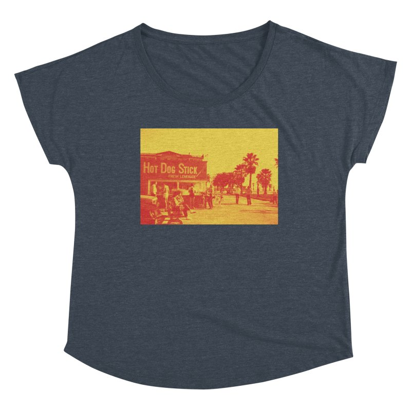 Muscle Beach Vintage Women's Scoop Neck by Hot Dog On A Stick's Artist Shop