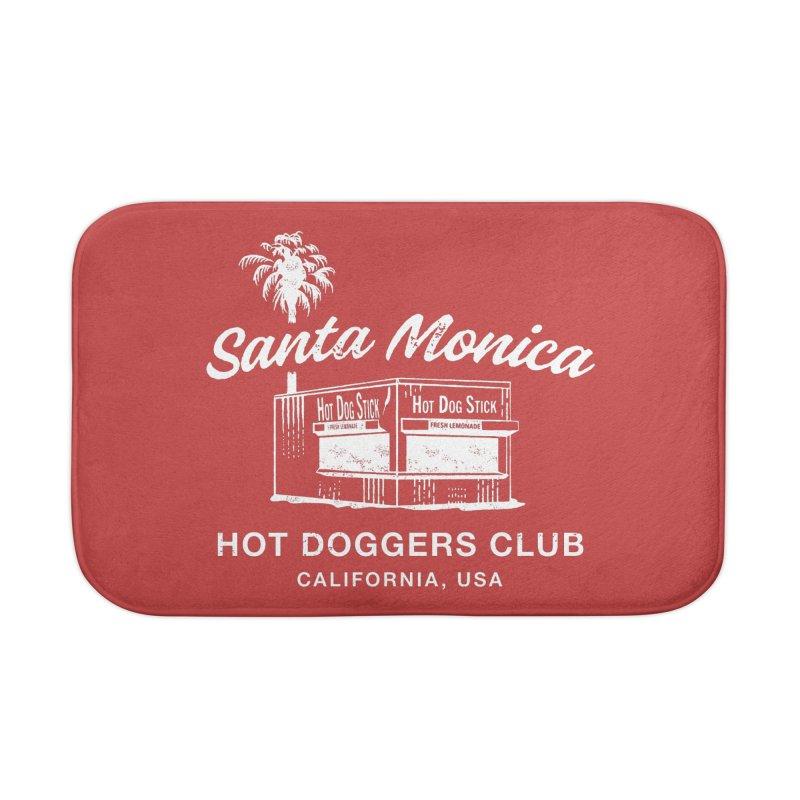 Santa Monica Home Bath Mat by Hot Dog On A Stick's Artist Shop