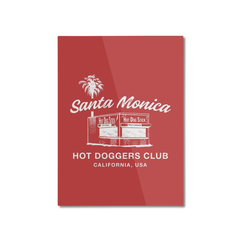 Santa Monica Home Mounted Aluminum Print by Hot Dog On A Stick's Artist Shop