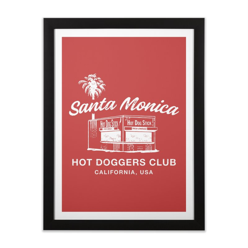 Santa Monica Home Framed Fine Art Print by Hot Dog On A Stick's Artist Shop