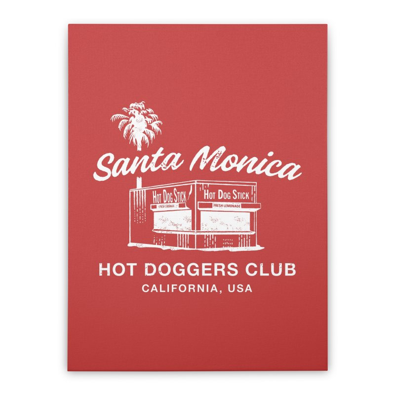 Santa Monica Home Stretched Canvas by Hot Dog On A Stick's Artist Shop