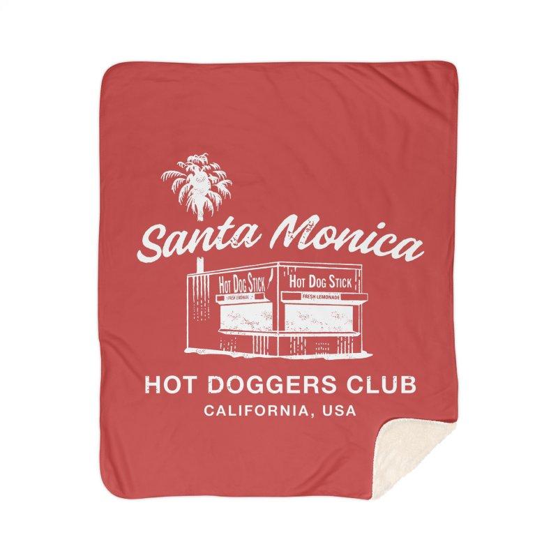 Santa Monica Home Sherpa Blanket Blanket by Hot Dog On A Stick's Artist Shop