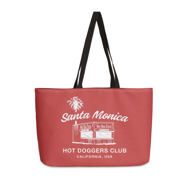 Santa Monica Accessories Weekender Bag Bag by Hot Dog On A Stick's Artist Shop