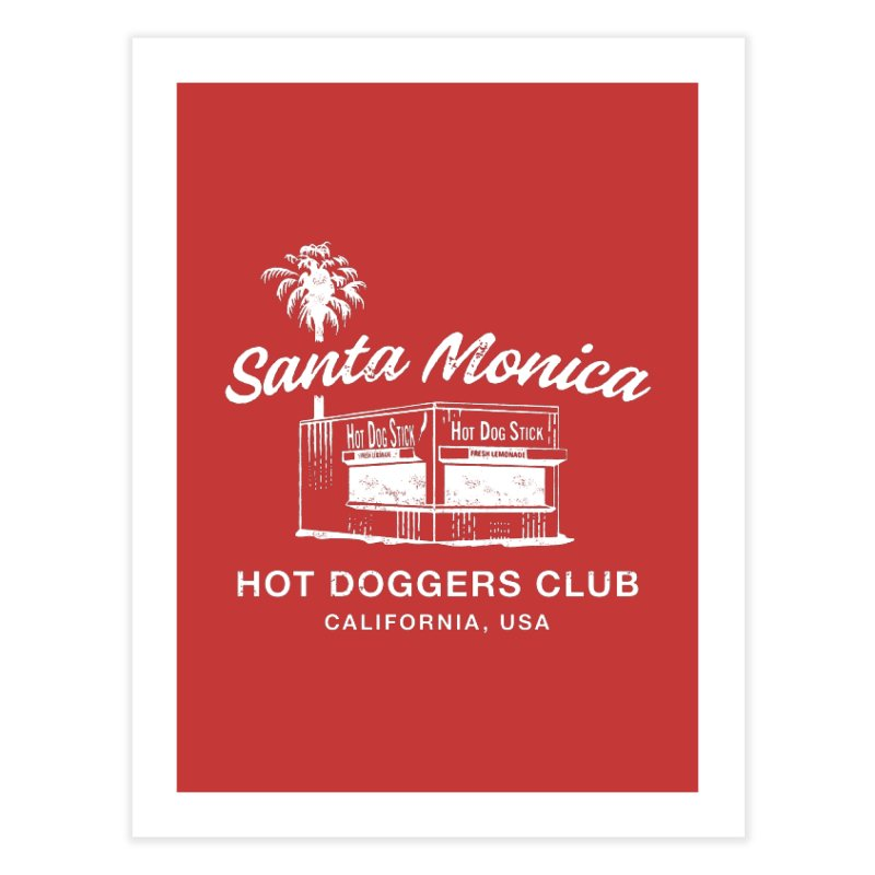 Santa Monica Home Fine Art Print by Hot Dog On A Stick's Artist Shop