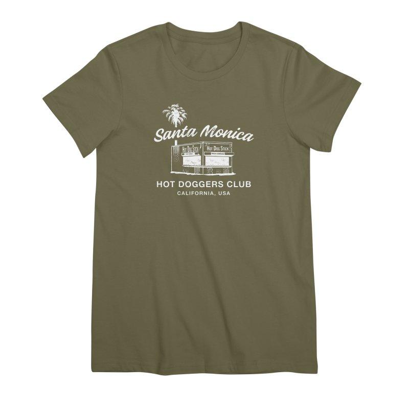 Santa Monica Women's Premium T-Shirt by Hot Dog On A Stick's Artist Shop
