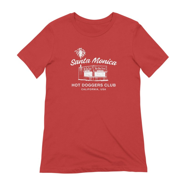 Santa Monica Women's Extra Soft T-Shirt by Hot Dog On A Stick's Artist Shop