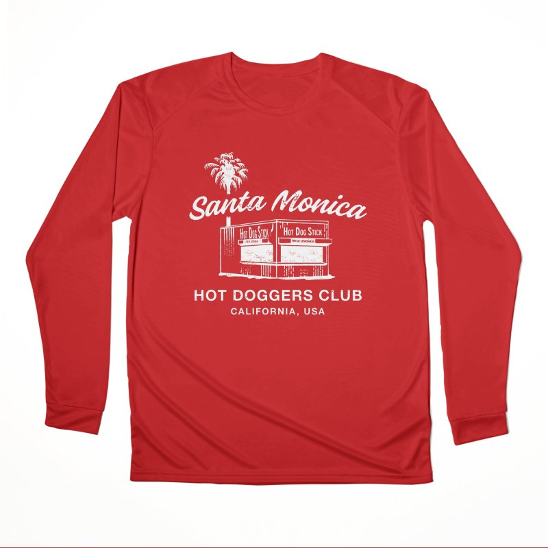 Santa Monica Men's Performance Longsleeve T-Shirt by Hot Dog On A Stick's Artist Shop
