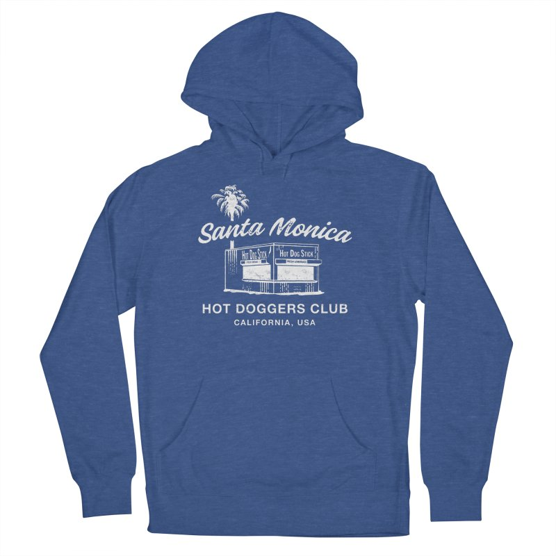 Santa Monica Men's French Terry Pullover Hoody by Hot Dog On A Stick's Artist Shop