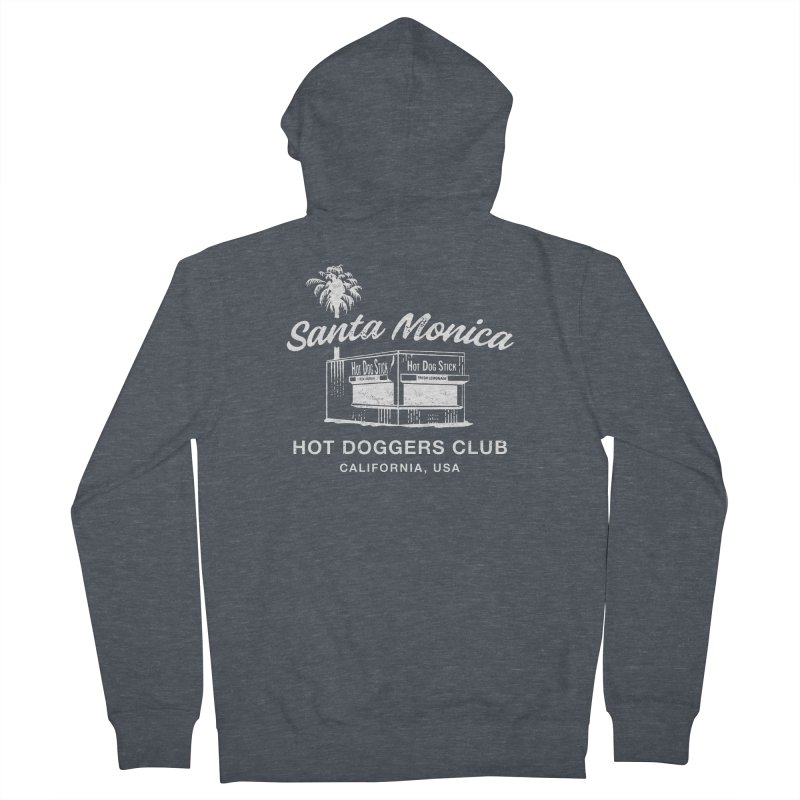 Santa Monica Women's French Terry Zip-Up Hoody by Hot Dog On A Stick's Artist Shop
