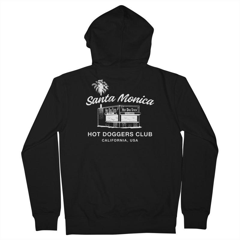 Santa Monica Men's Zip-Up Hoody by Hot Dog On A Stick's Artist Shop
