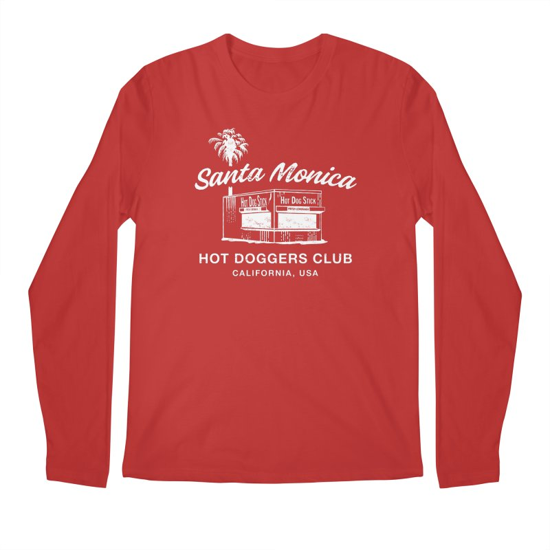 Santa Monica Men's Regular Longsleeve T-Shirt by Hot Dog On A Stick's Artist Shop
