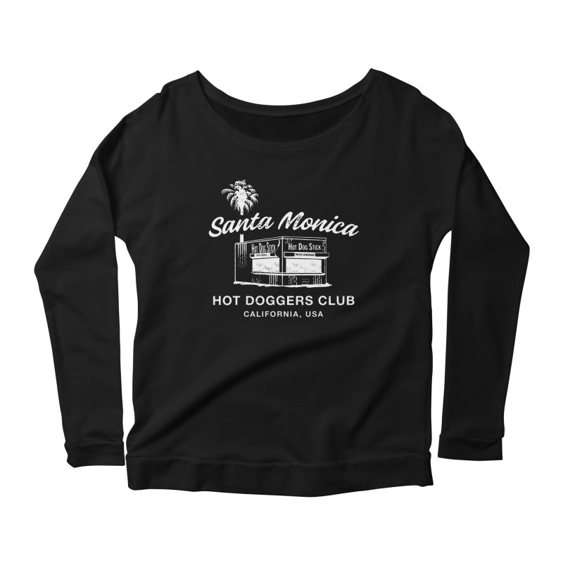 Santa Monica Women's Scoop Neck Longsleeve T-Shirt by Hot Dog On A Stick's Artist Shop