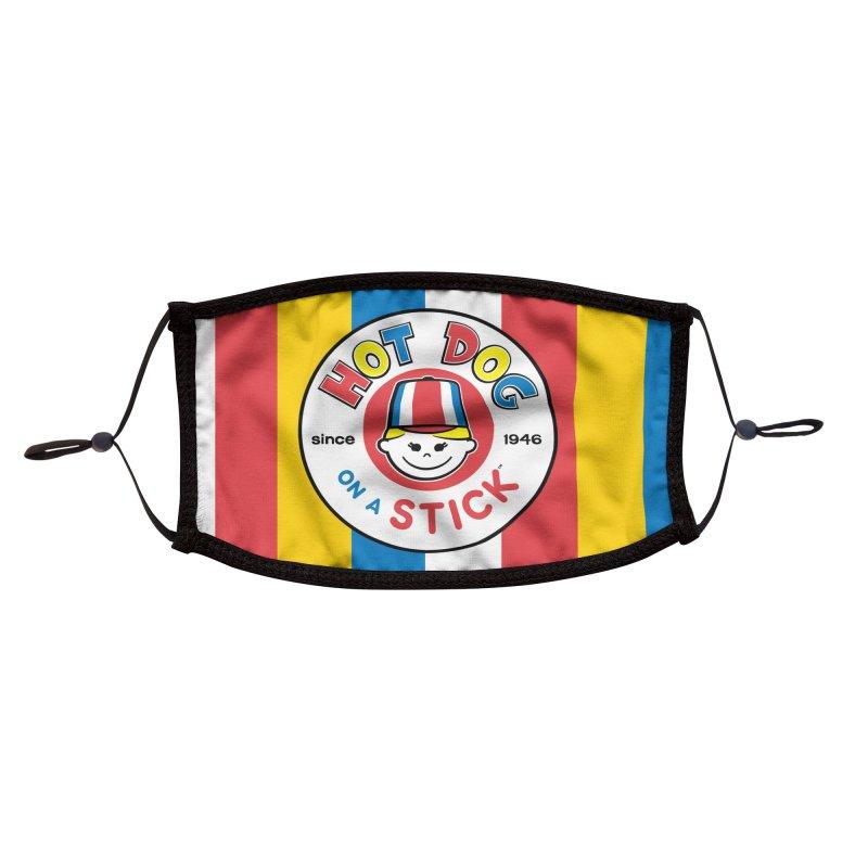 Hot Dog on a Stick Logo Accessories Face Mask by Hot Dog On A Stick's Artist Shop