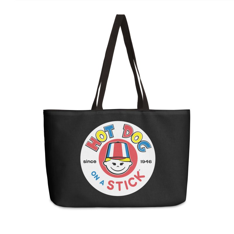 Hot Dog on a Stick Logo Accessories Weekender Bag Bag by Hot Dog On A Stick's Artist Shop