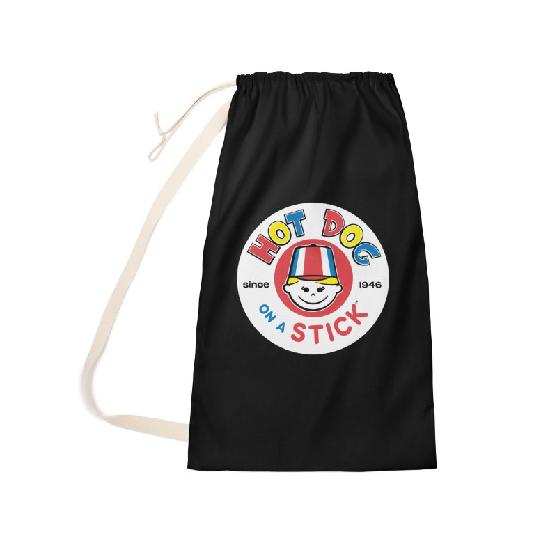 Hot Dog on a Stick Logo Accessories Laundry Bag Bag by Hot Dog On A Stick's Artist Shop