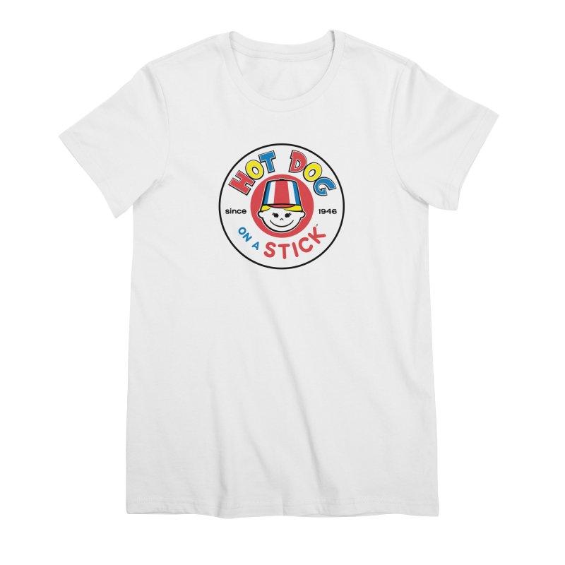 Hot Dog on a Stick Logo Women's Premium T-Shirt by Hot Dog On A Stick's Artist Shop