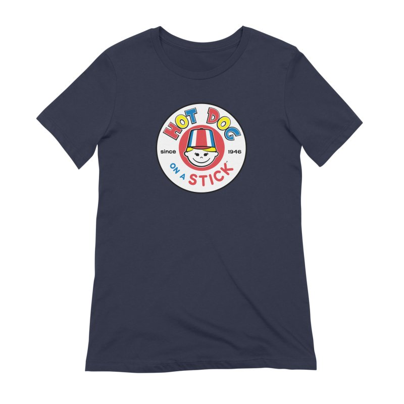 Hot Dog on a Stick Logo Women's Extra Soft T-Shirt by Hot Dog On A Stick's Artist Shop